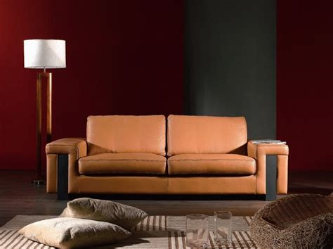 Contemporary Leather Sofas Italian by Light Brown Leather Contemporary Style Sofa Prime Classic