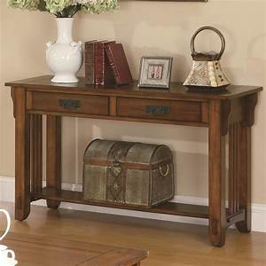 Colton Brown Wood Sofa Table - Steal-A-Sofa Furniture