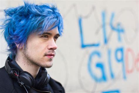 Blue Hair Colour For Men