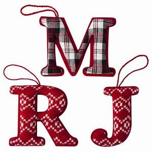 17 best images about monogram ornaments on pinterest red With letter ornaments target