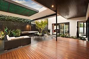 Indoor, Outdoor, House, Design, With, Alfresco, Terrace, Living