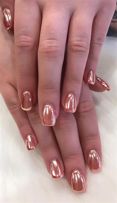 gorgeous metallic nail art designs