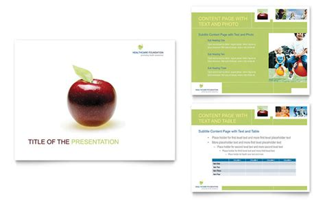 healthcare management powerpoint  template design