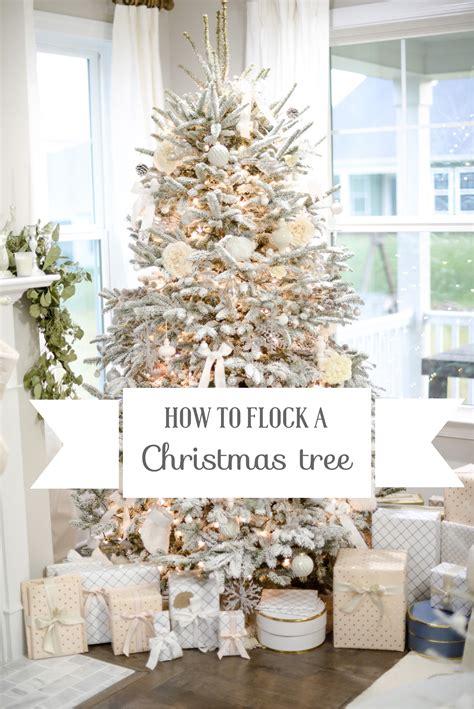 flock  christmas tree diy easy steps  flock