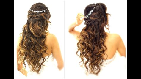 Wedding Hairstyles by Easy Wedding Half Updo Hairstyle With Curls Bridal