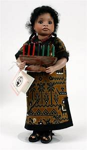 kwanzaa porcelain limited edition collectible doll by
