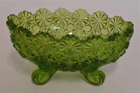 vintage green glass l vintage l g wright green glass daisy and 30 similar items