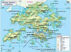 Carte de Hong Kong Plan de Hong Kong Région