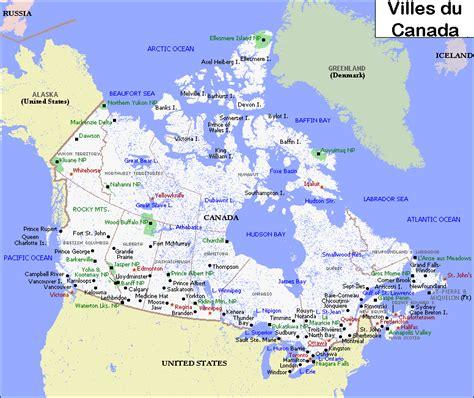 Carte Du Canada Avec Villes by Villes Principales Canada Arts Et Voyages