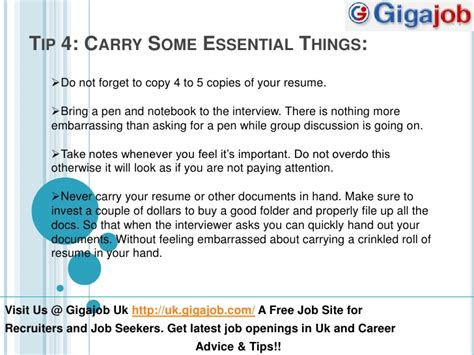 Bringing Resumes To Interviews by Bring Resume To