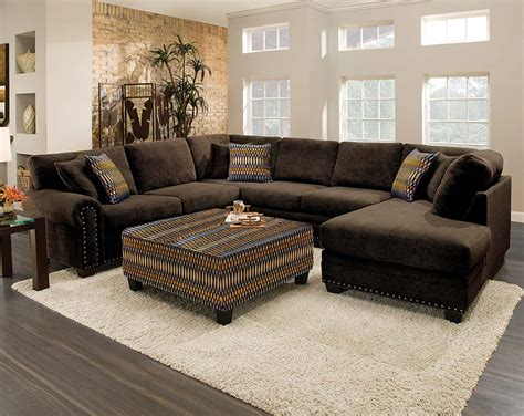 brown sectional with ottoman chocolate brown sectional sofa with chaise