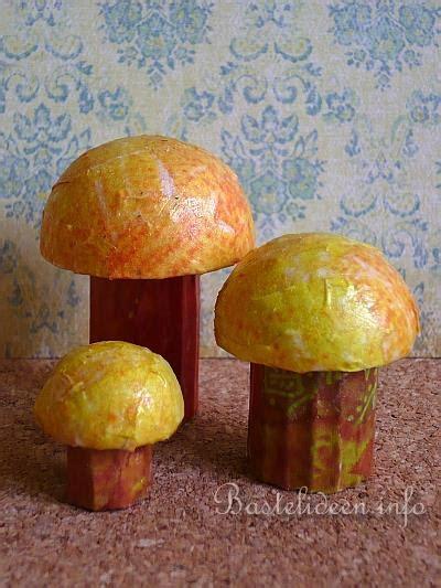herbstbasteln mit kindern pilze