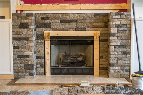 airstone fireplace family room makeover part 4 airstone fireplace makeover