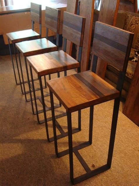 metal  hardwood chair  blueridgemetalworks  etsy home decor designing spaces