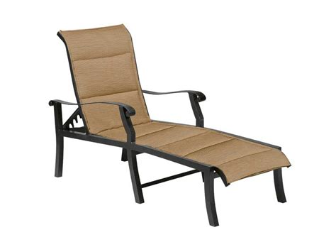 woodard cortland padded sling aluminum adjustable chaise lounge 42h570