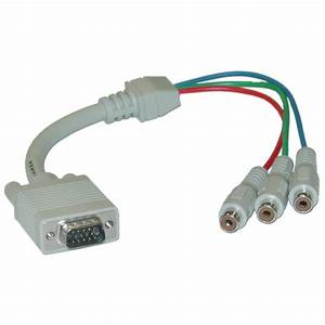 1ft Vga To Component Video Cable  Hd15    3 Rca Female