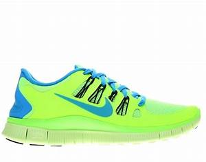 Men s Nike Free 5 0 Running Shoes Neon Green Blue Black