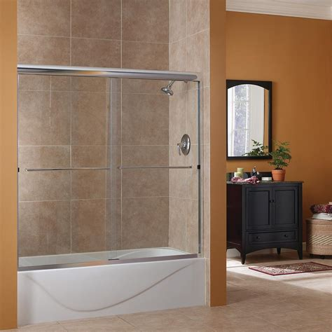 foremost cove 60 in w x 60 in h frameless sliding tub
