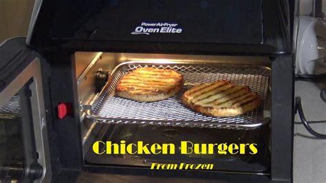 fryer air oven power chicken frozen burgers elite heating