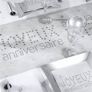 Chemin De Table Anniversaire : chemin de table joyeux anniversaire gris ~ Melissatoandfro.com Idées de Décoration