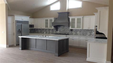 white shaker kitchen island  grey ideas