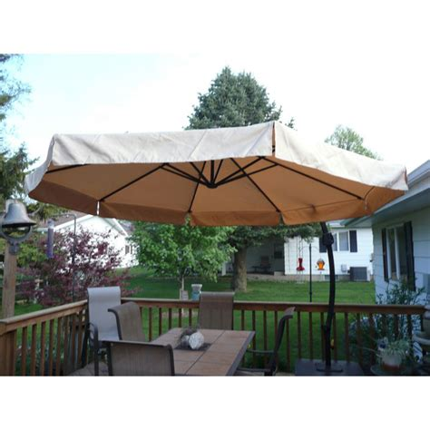 menards patio umbrellas backyard creations 9 sorrento