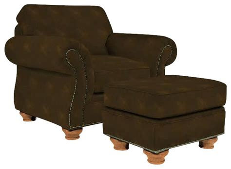 broyhill laramie brown chair and ottoman set with attic