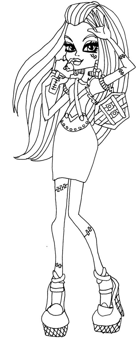 Monster High Frankie Stein Thirst Coloring - Monster High