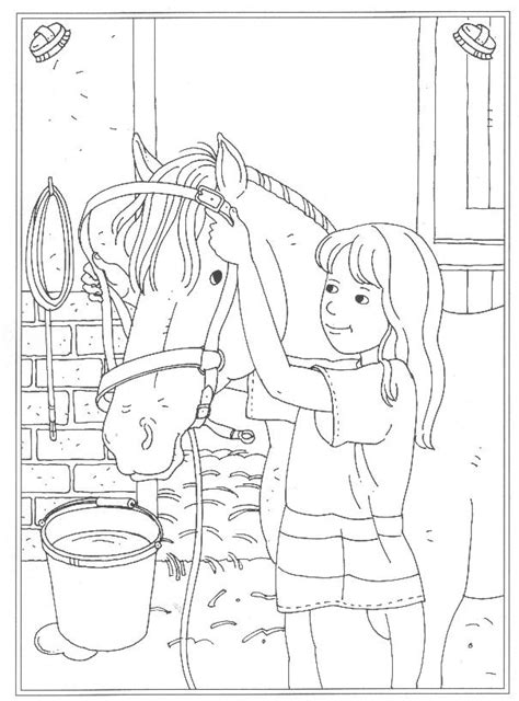 Kleurplaat Playmobil Paarden by N 24 Coloring Pages Of At The Stables