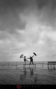 Rainy Engagement Photography