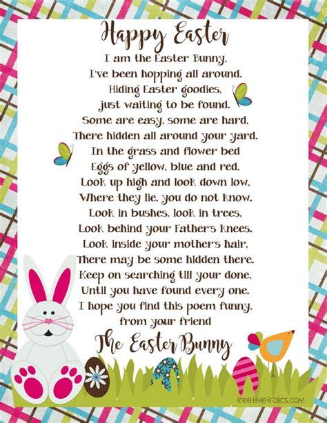 easter bunny letter  time frolics