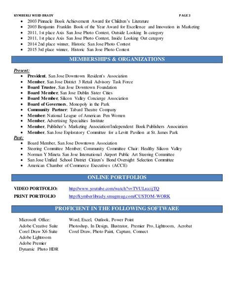 kymberly brady resume