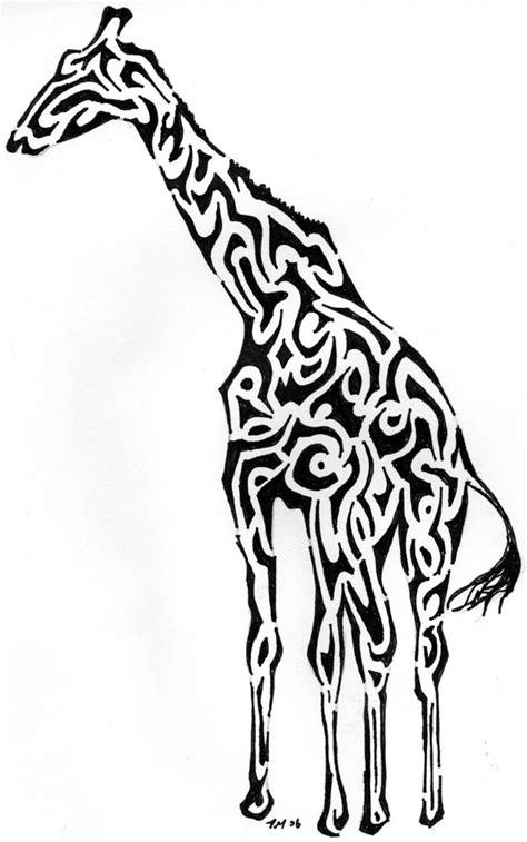 tribal giraffe  started making  shapes  shapes