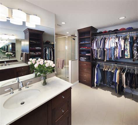 Bathroom And Closet Designs by Project Luxury En Suite Walk In Closet