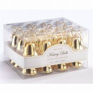 gold kissing bells place card holder 528 12008gd bell With wedding bell favors bulk