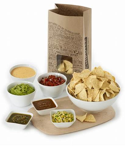 Chipotle Chips Menu Salsa Carry Catering Spread