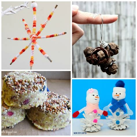 christmas nature crafts for kids what can we do with
