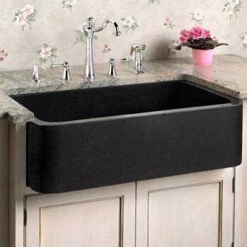 polished black granite kitchen farm sink chippendale