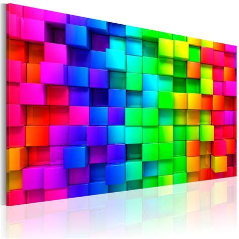 Acryllack Wohnen Sie Bunt by Leinwand Bilder Fertig Aufgespannt Bild Bunt 3d