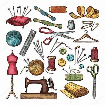 Sewing Tools Different Costura Needlework Colored Taller