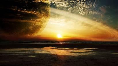 4k Ultra Sunset Sea Rings 2160 3840