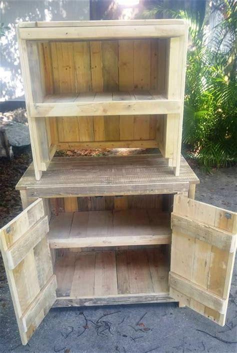 pallet kitchen cabinets diy pallet cabinets kitchen hutch 30 diy pallet ideas for