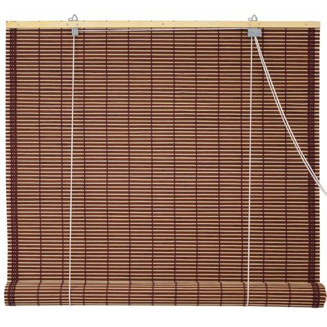 Roll Up Window Blinds by Window Blinds Burnt Bamboo Roll Up Blinds Mahogany