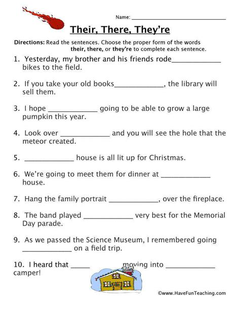 Your And You Re Worksheet Free  Kidz Activities