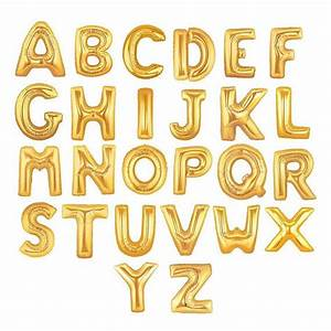 gold letter balloons spell any name or phrase 16 inch With write your name in gold letters