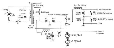 aav  amplifier power supply schematic diagrams