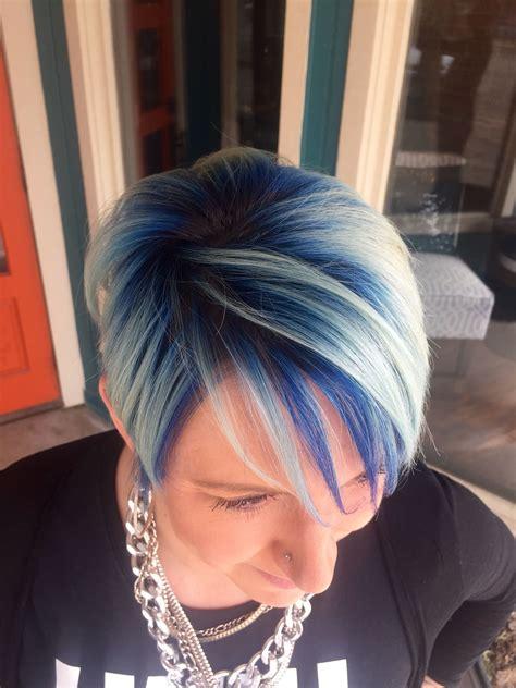 hair color summer  hair short hair blue hair white
