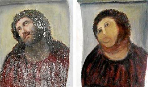Jesus Fresco Meme - amateur restoration botches jesus painting in spain public radio international