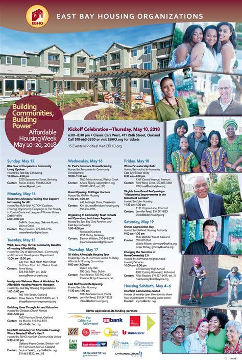 east bay housing organizations event calendar