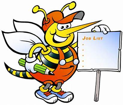 Bee Working Sign Holding Happy Illustration Vector